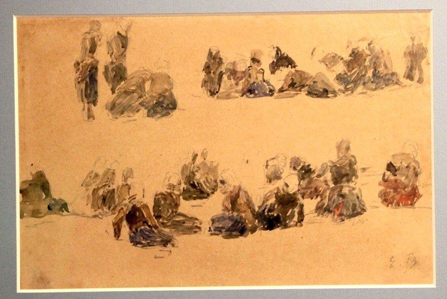 Eugene Boudin, Watercolor
