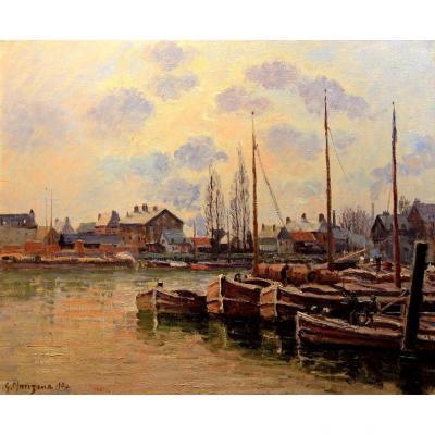 Huile Par Georges Manzana Pissarro