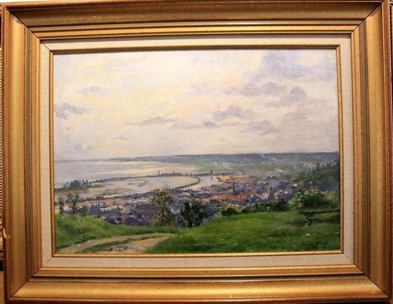 """George Binet """"view Of Honfleur 1907""""-photo-2"""