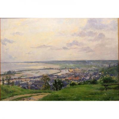 "George Binet ""view Of Honfleur 1907"""