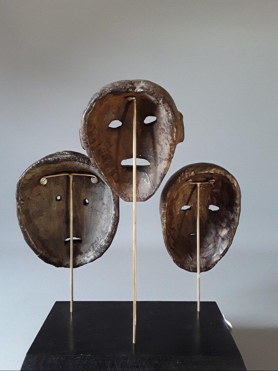 3 Petits Masques Timor Oriental  Indonésie -photo-2