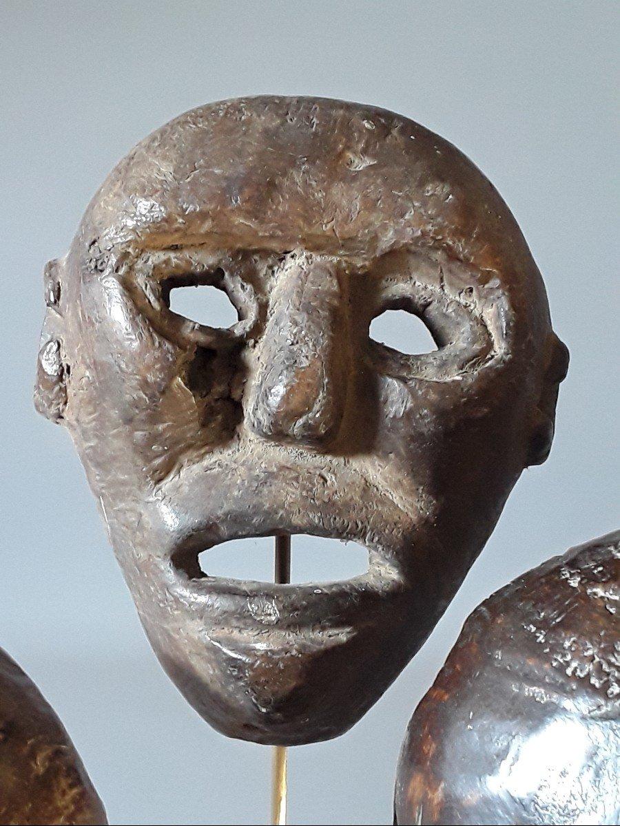 3 Petits Masques Timor Oriental  Indonésie -photo-3