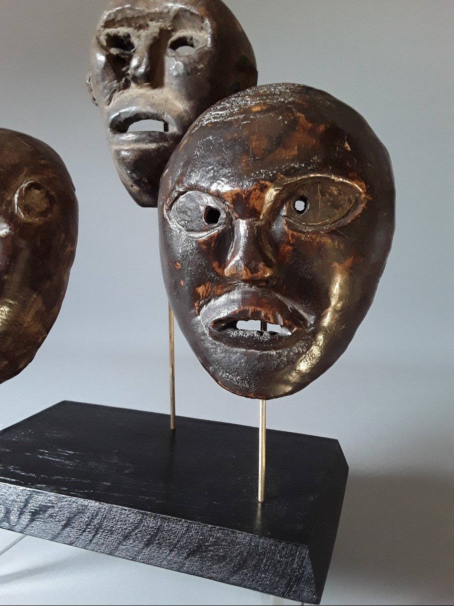 3 Petits Masques Timor Oriental  Indonésie -photo-4