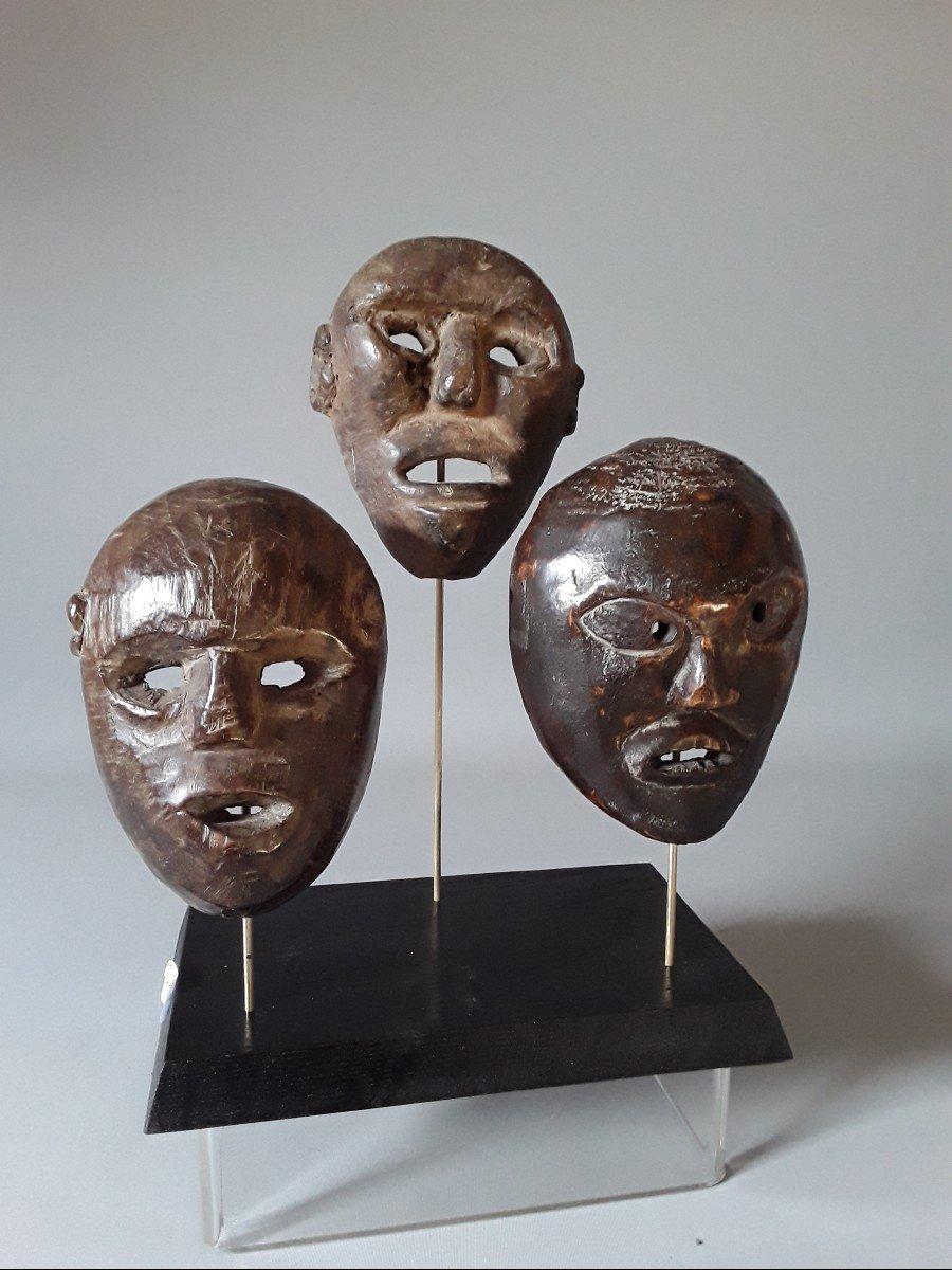 3 Petits Masques Timor Oriental  Indonésie