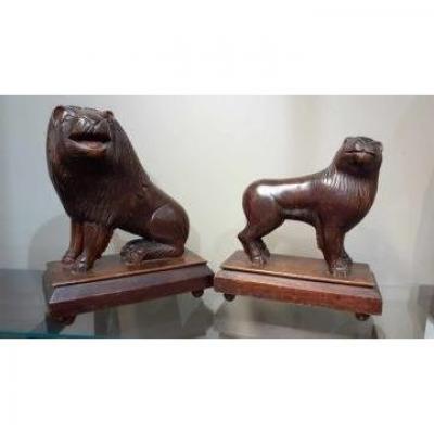 Couple De Lions Fon Bénin