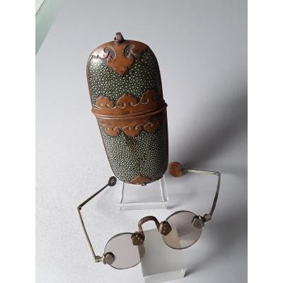 China Shagreen Glasses Case