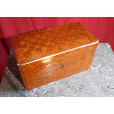 Coffret, Boîte à Bijoux En Marqueterie, XIXème