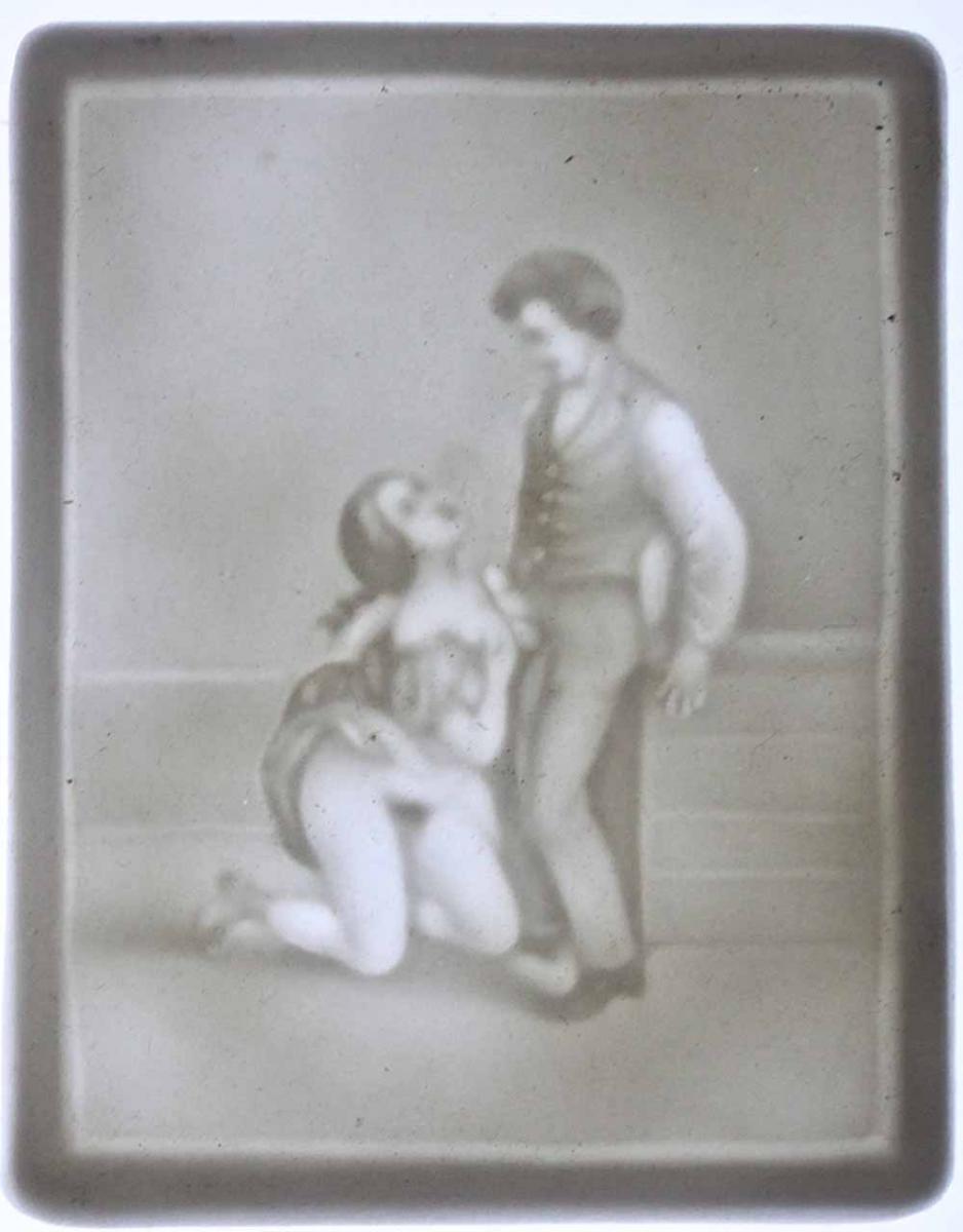 Ancienne LITHOPHANIE Erotique