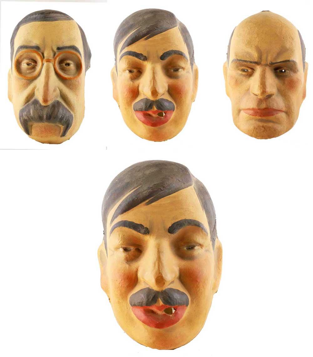 3 Masks Laval Blum Mussolini