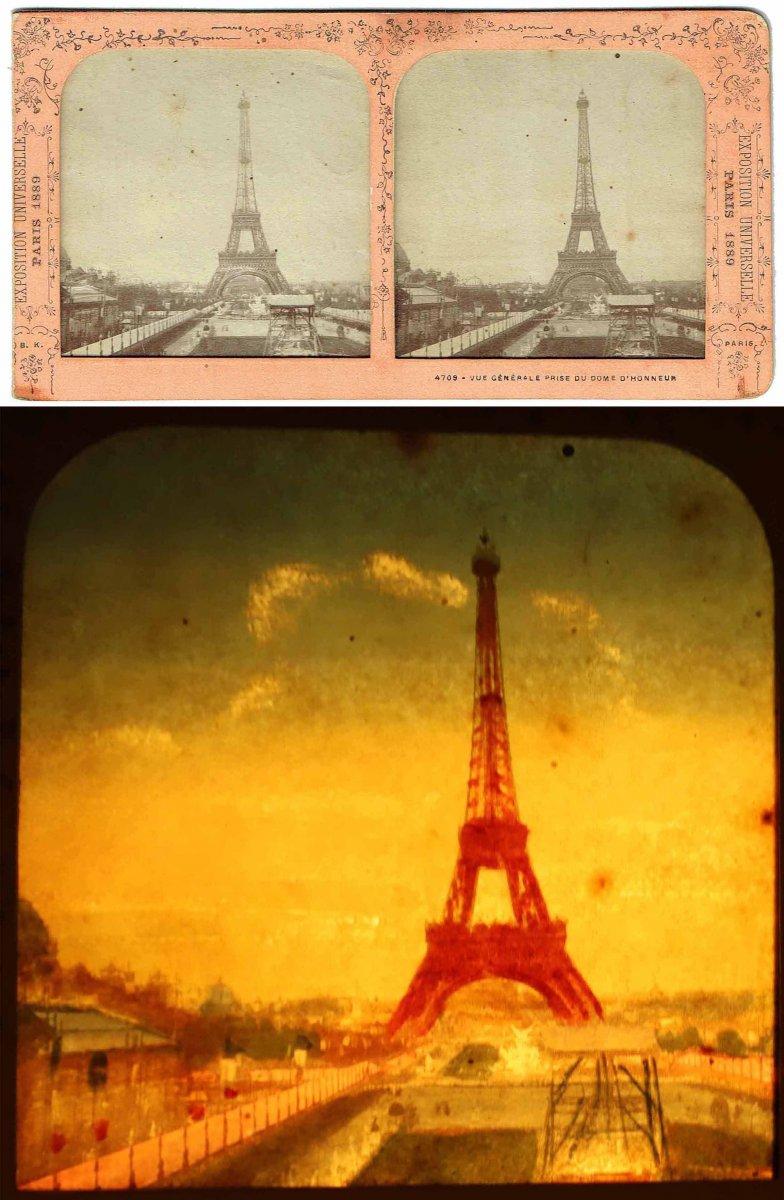 Vues stéréoscopiques LA TOUR EIFFEL 1889-photo-1