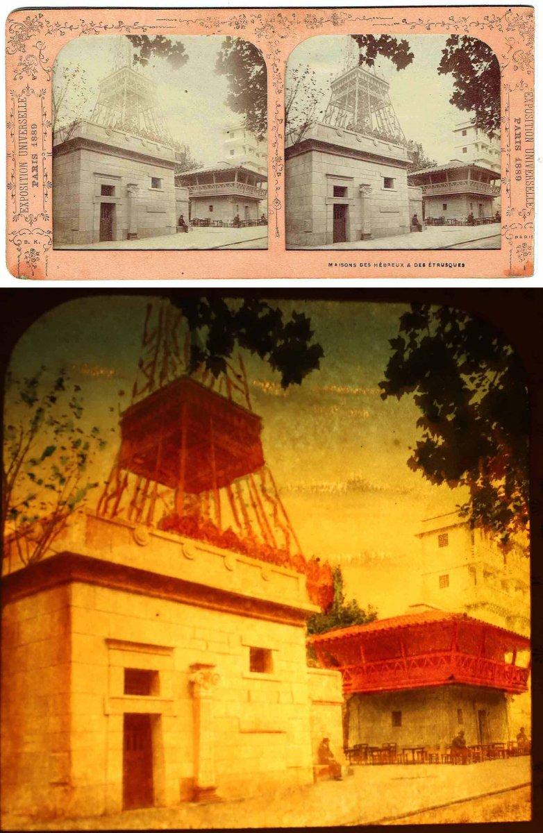 Vues stéréoscopiques LA TOUR EIFFEL 1889-photo-2