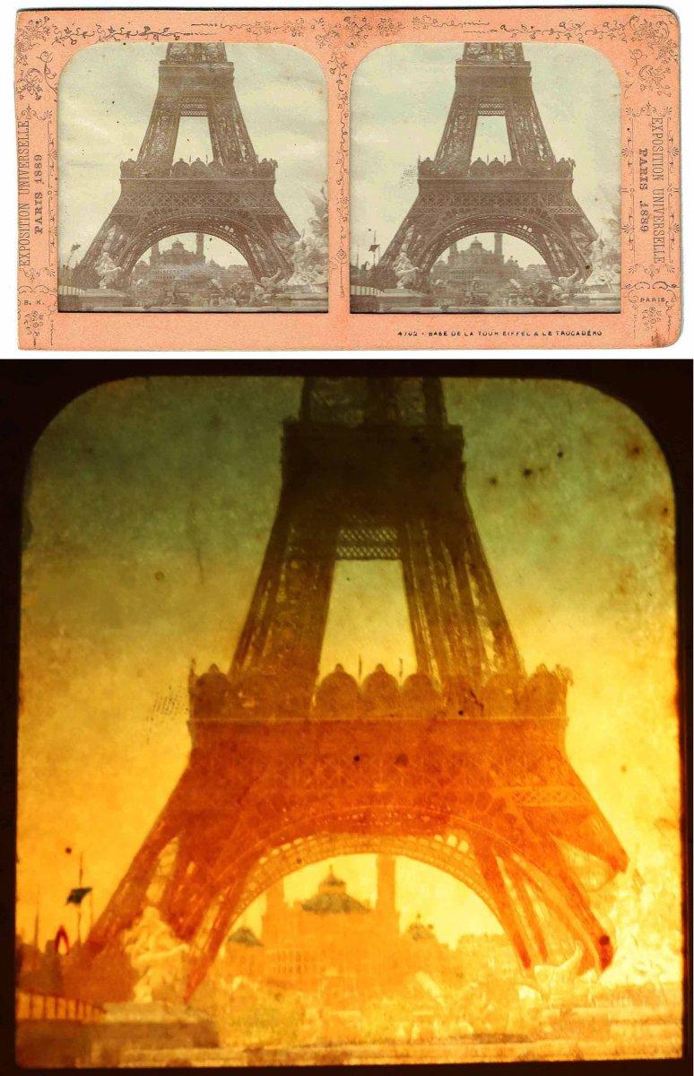 Vues stéréoscopiques LA TOUR EIFFEL 1889-photo-4