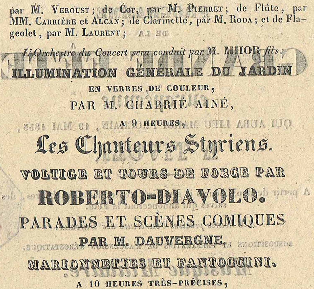 Programme FÊte Tivoli 1835  -photo-1