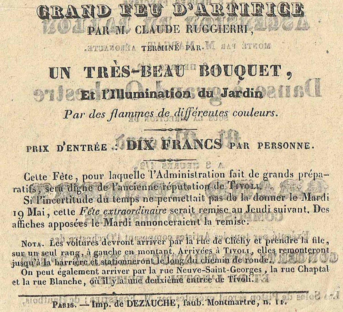 Programme FÊte Tivoli 1835  -photo-2