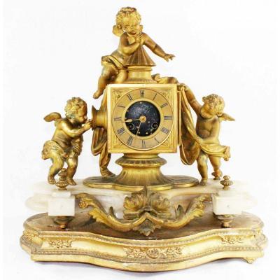 Pendule LA LANTERNE MAGIQUE vers 1850