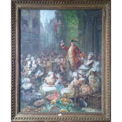 Pastel Joseph NAVLET - L'ESCAMOTEUR MAGICIEN