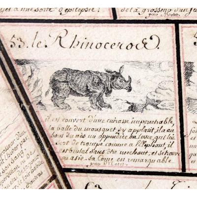 JEU DE L'OIE des ANIMAUX vers 1810