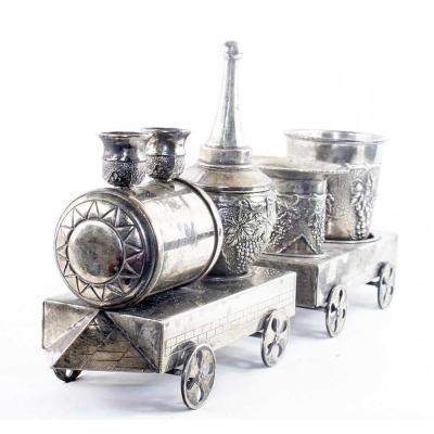 Silver Metal Train