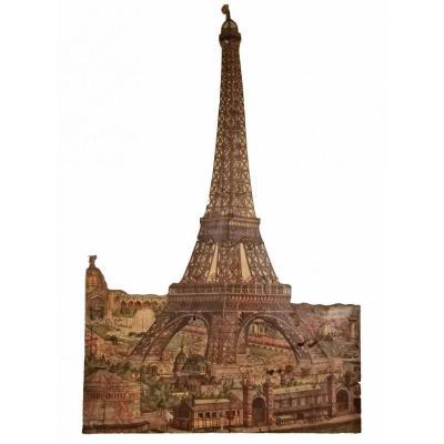 Eiffel Tower Puzzle Circa 1890