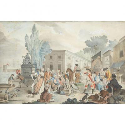 AQUARELLE 1802  MAGICIEN ESCAMOTEUR