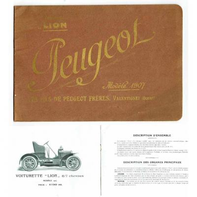CATALOGUE AUTOMOBILE PEUGEOT 1907