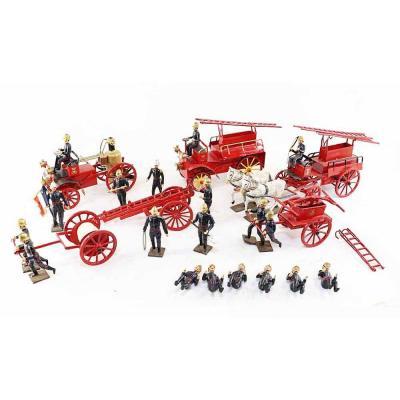 CBG ensemble figurines POMPIERS / jouet ancien