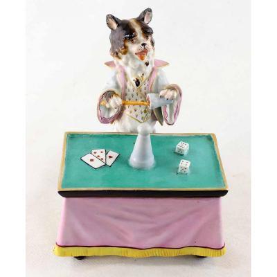 Porcelain Dog Magician Circa 1850