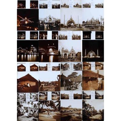 Ensemble de 50 vues stéréoscopiques AFRIQUE - EXPOSITION 1900