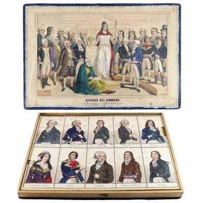 PUZZLE des GIRONDINS vers 1830 - 1840