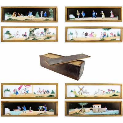 BOITE 12 plaques DON QUICHOTTE