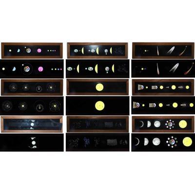 9 PLAQUES ASTRONOMIQUES