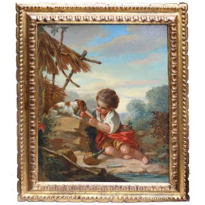 The Young Boy With The Dog Hst Circa 1760