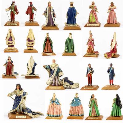 Ensemble de figurines Alexandre BALLADA rois et reines