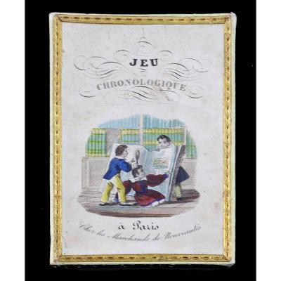 JEU CHRONOLOGIQUE 1830 / jeu ancien romantique