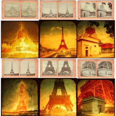 Stereoscopic Views The Eiffel Tower 1889