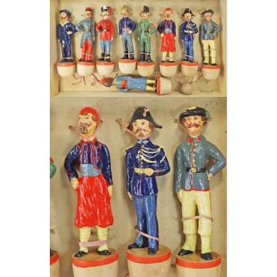 JEU DE QUILLES - LES MILITAIRES vers 1880 - 1900