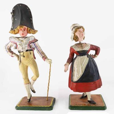 INCROYABLE et CANTINIERE XIXème  / jouet ancien