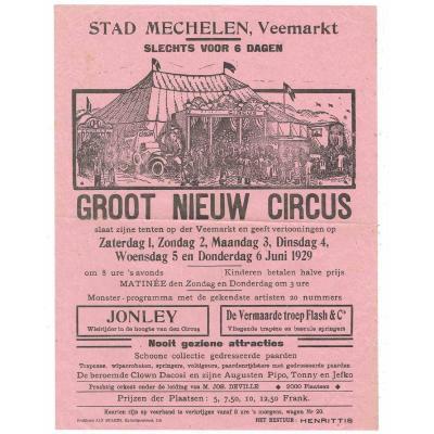 Affiche Cirque 1929