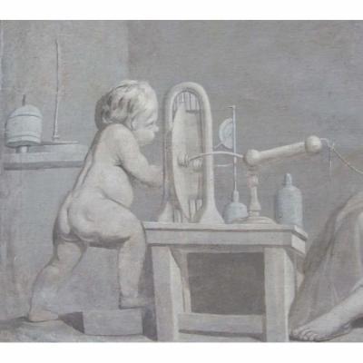 L'EXPERIENCE ELECTRIQUE vers 1770   HsT