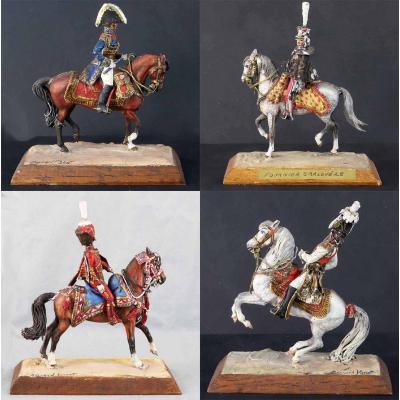 Figurines Bernard Vanot 4 Marechaux D 'empire