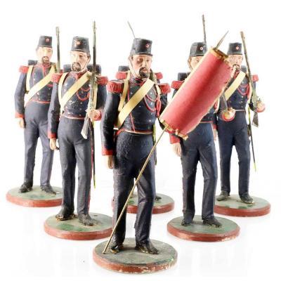 6 SOLDATS GIROUX  1840