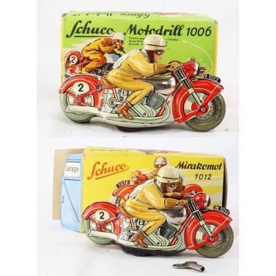 Schuco 2 Motos 1950 / Old Toys