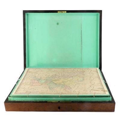 Atlas Puzzle Box Circa 1860