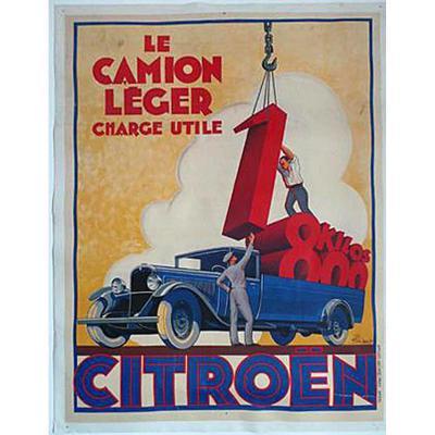Affiche Citroen 1935