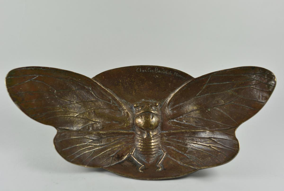 Charles Boutet De Monvel (1855-1913) Vide-poche En Bronze