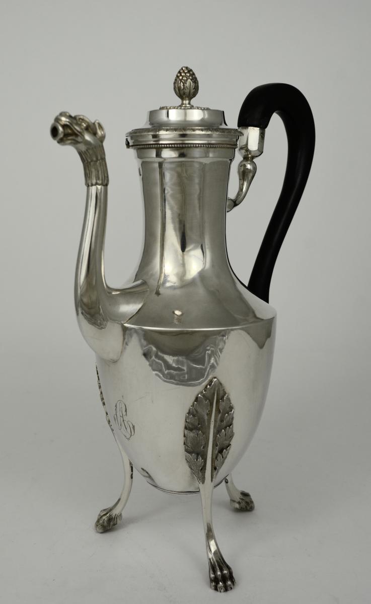 Verseuse En Argent, France 1798-1809 Par Milleraud  Bouty