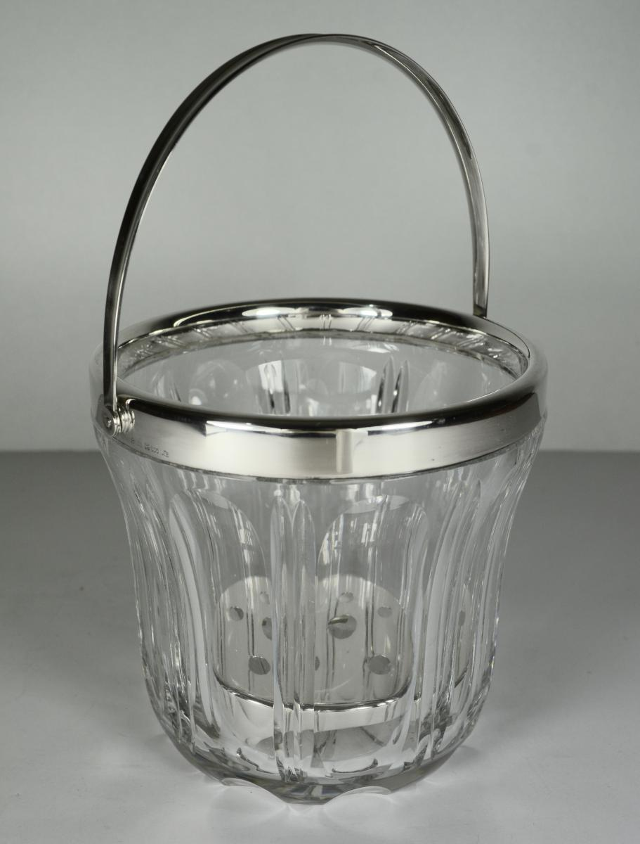 Ice Bucket In Crystal And Silver, Germany By
