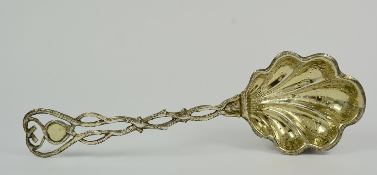 Russia, Sprinkling Spoon In Silver Gold, Moscow 1858