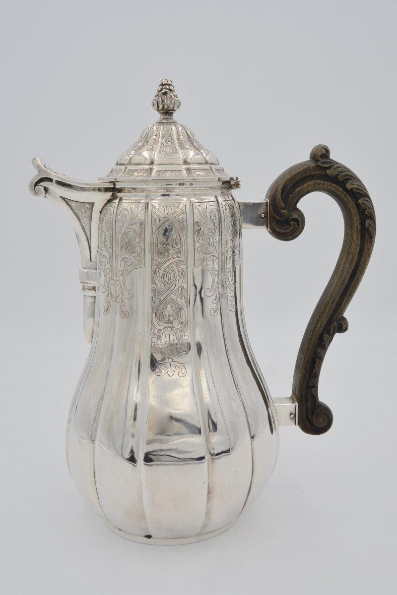 Nineteenth Century Silver Coffee Maker, Regency Style