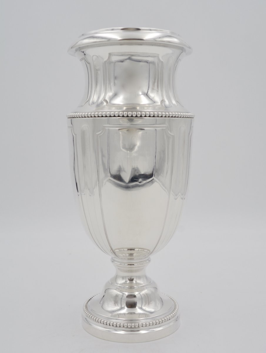 Silver Vase, France XIXth Century By Tetard Frères